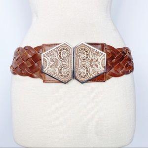 Plenty by Tracy Reese leather & elastic belt M/L